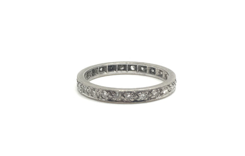 18ct White Gold Art Deco Diamond Eternity Ring