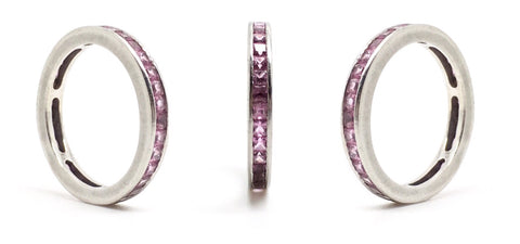 Deakin and Francis Pink Sapphire Platinum Eternity Ring