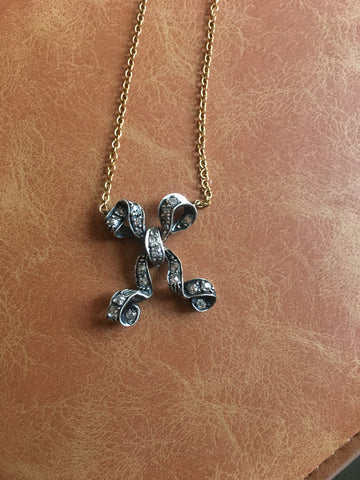 Victorian Bow Necklace
