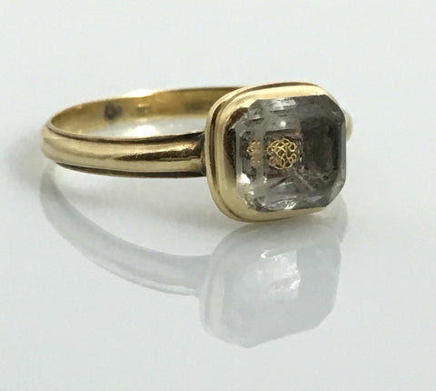 Reserved! Stuart Crystal Monogrammed Mourning Ring Circa 1700 - Rare part 3