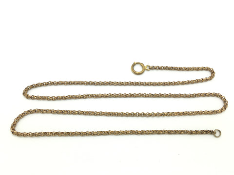 Georgian Antique Faceted Pinchbeck Chain