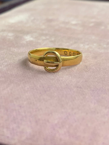 22ct Victorian Gold Buckle Band