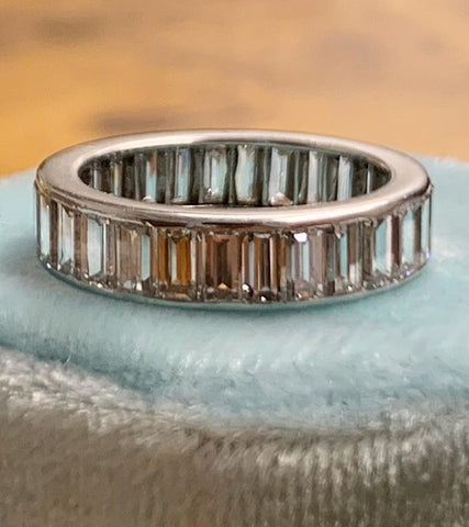 4ct Baguette Cut Diamond Eternity ring