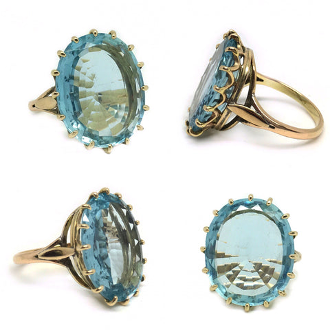 Reserved Large Aquamarine Cocktail Ring
