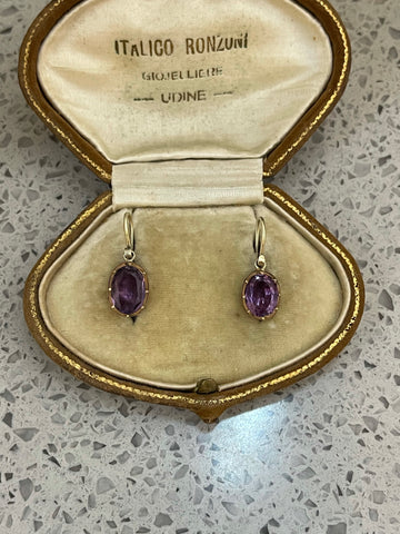 Deposit Smaller Georgian Amethyst Drop Earrings