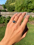 Vintage 18ct Gold Sapphire and Diamond 3 Stone Ring