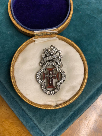 1790s Portuguese Order of Christ Medallion Brooch