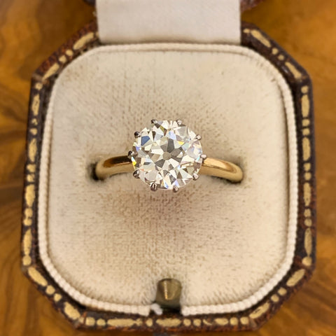 Antique 2.45ct Old Cut Diamond Ring