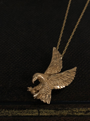 Vintage Gold Eagle on Gold Chain