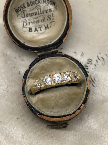 Reserved Edwardian 18ct Gold Diamond Ring