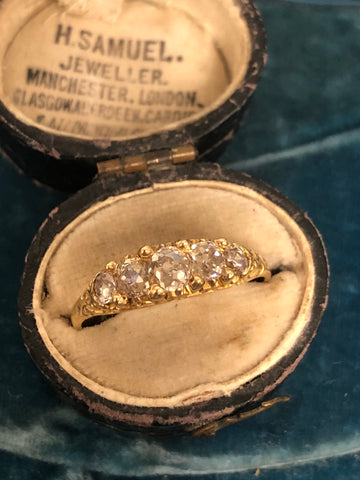 Edwardian 18ct Gold Diamond Ring
