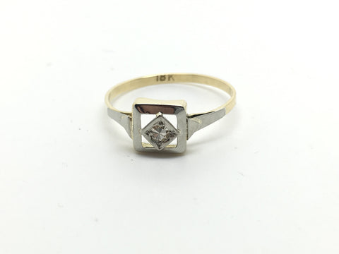 1920's 18ct 8 cut Diamond Ring