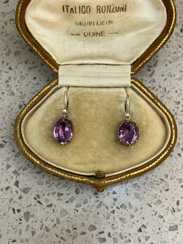Georgian Amethyst Drop Earrings