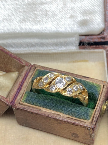 Victorian Diamond Scroll Ring