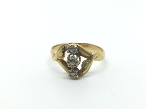 Art Nouveu French Gold Ring
