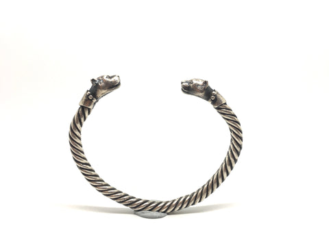 Sterling Silver Big Cat bracelet