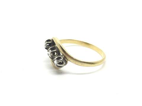 18ct Gold French Diamond Ring Circa 1900