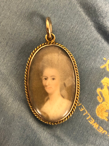 18th Century Georgian Portrait Miniature pendant