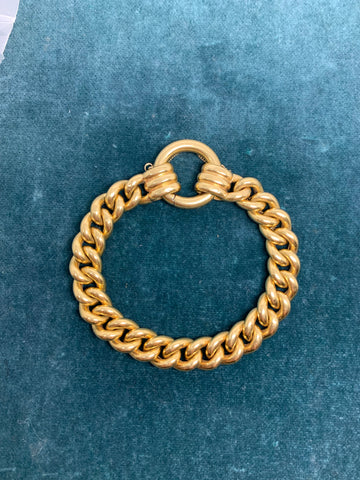 18ct Yellow Gold Curb Link Bracelet