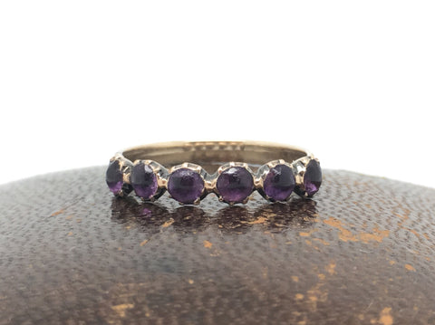 Georgian Six Stone Amethyst Ring