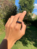 Vintage 18ct Gold Natural Sapphire 5 Stone Ring