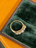 Reserved Victorian Pearl and Diamond Half Hoop CS