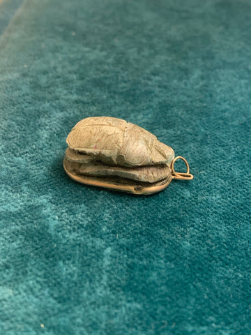 15ct Egyptian Scarab Charm