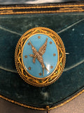 Victorian 18ct Gold Diamond Bird Locket Brooch