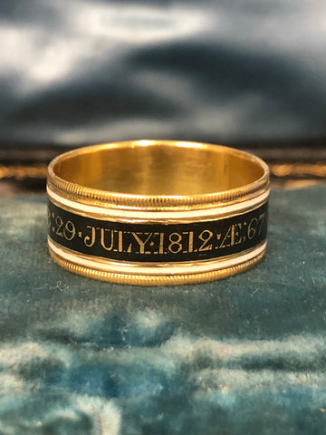 Rev Matthew Thomas 1812 Mourning Band
