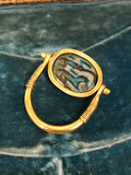 Reserved Victorian 18ct Gold Scarab Swivel Ring