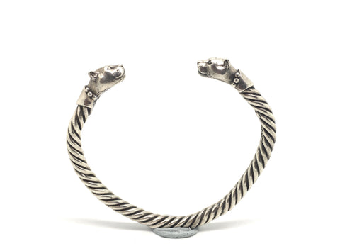 Sterling Silver Big Cat Bangle