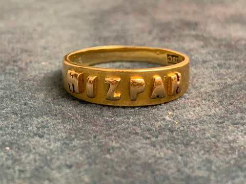 Reserved 18ct Gold Victorian Mizpah Ring