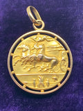 18ct Coin of Arethusa Decadrachm Medallion Pendant