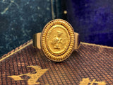 Roman Clasped Hands Fede Gold Ring
