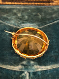 Giant 19th Century Citrine Brooch