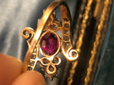 Edwardian Burmese Ruby and Rose Cut Diamond Ring