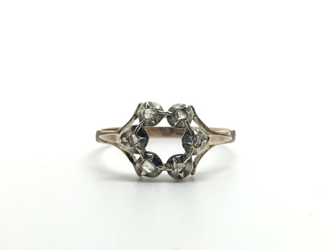 6 Diamond Georgian Hexagon Ring