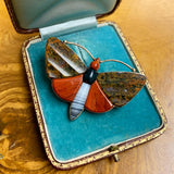 2/2 9ct Gold Victorian Agate Brooch