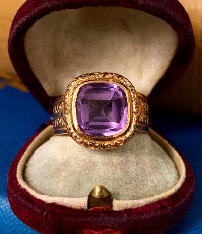 Amethyst 14ct Gold Ring