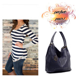 Large Navy Bag - 4hearts - 2