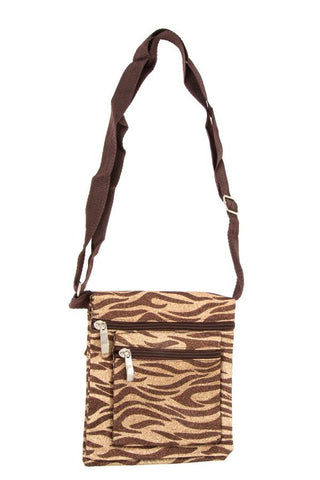 Glittered animal print shoulder bag