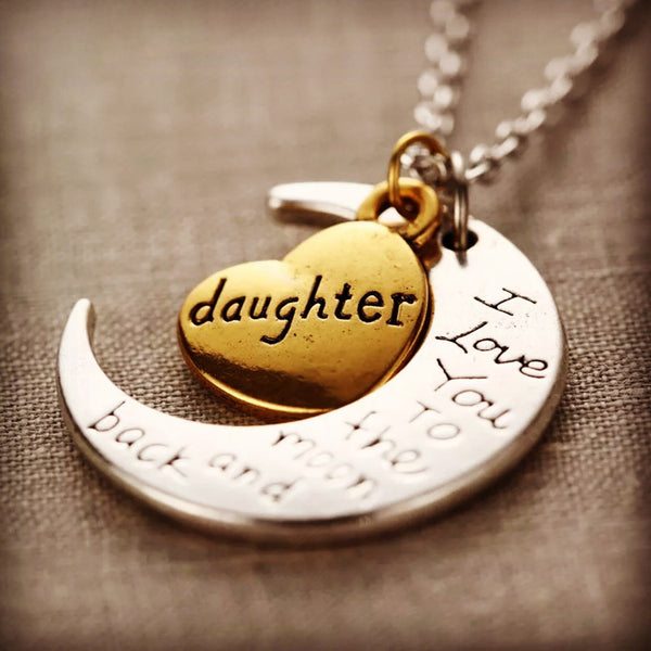 Daughter necklace - 4hearts
