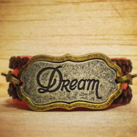 Dream, Leather-Wrap Bracelet - 4hearts - 1
