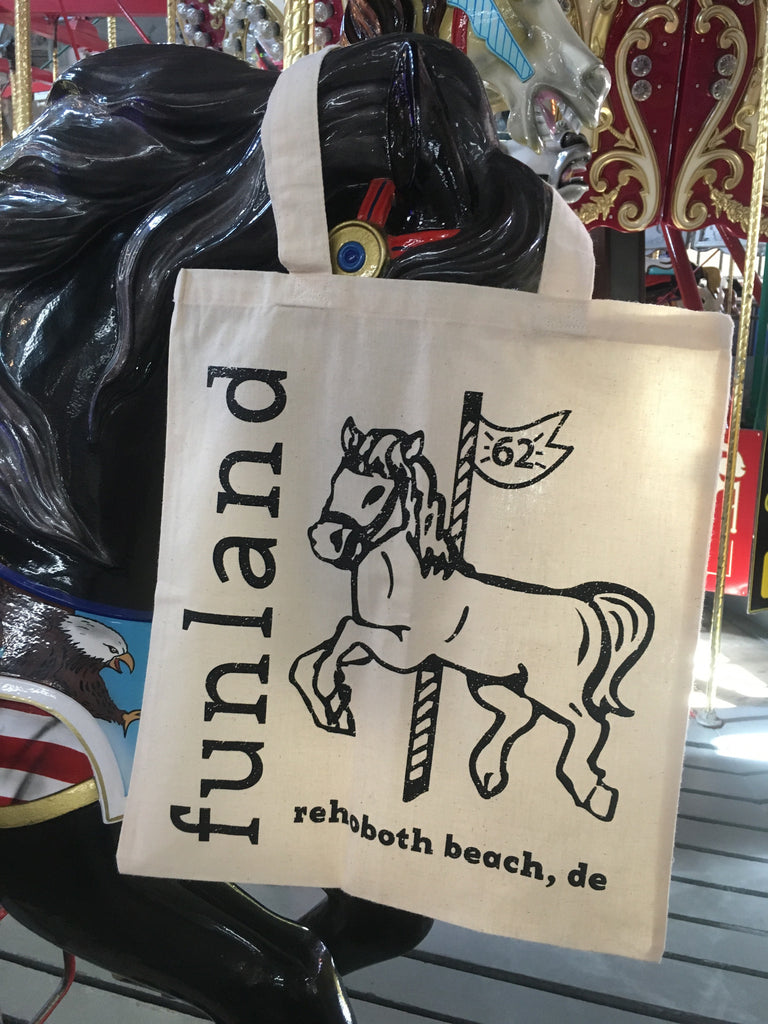 Carousel Horse Canvas Bag