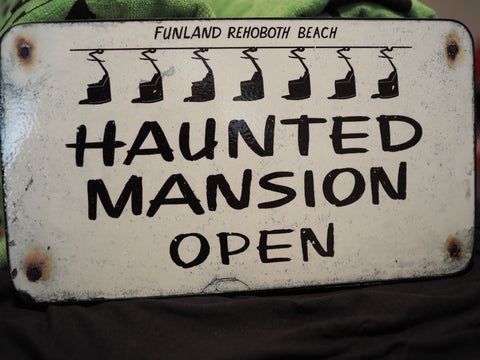Wooden Vintage Haunted Mansion sign