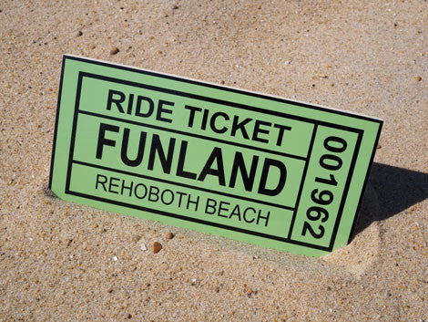 Wooden Ticket Sign