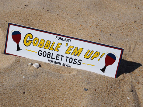 Wooden Goblet Toss Sign