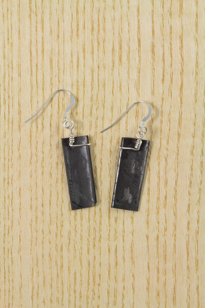 RideWear's Storm Series #034 is a unique Earrings jewelry accessory handmade from carbon fiber bicycle frames with 14k gold or sterling silver accents.