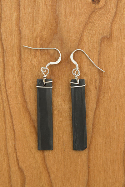 RideWear's Storm Series #038 is a unique Earrings jewelry accessory handmade from carbon fiber bicycle frames with 14k gold or sterling silver accents.