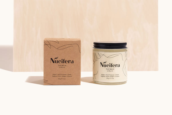Nucifera The Balm sustainable packaging